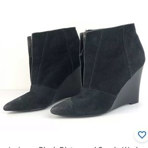 Joe's Jeans Fab Suede Distressed Wedge Booties